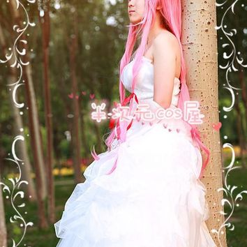 Halloween Anime Future Diary Mirai Nikki Yuno Gasai Cosplay Costume Cartoon Dress