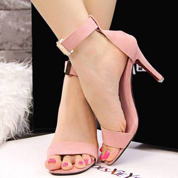 High Heels Shoes Women Sandals 2017 Ladies Stiletto Sandalias Mujer Summer Shoes