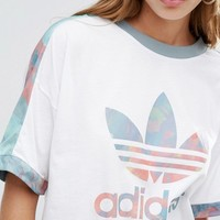 adidas Originals Pastel Camo Panel Trefoil T-Shirt at asos.com