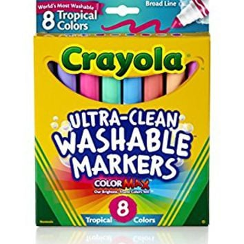 Crayola 8ct Washable Tropical Colors Conical Tip