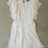 Romantic White Ruffle Dress [4344] - $24.50 : Vintage Inspired Clothing & Affordable Summer Frocks, deloom   Modern. Vintage. Crafted.