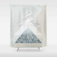 Snow into the forest Shower Curtain by Cafelab