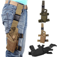 Outdoor Tactical Puttee Thigh Leg Pistol Holster Pouch Wrap-around H10155 Travel Accessories = 1646017860