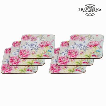 Chinois set of 6 coasters - Kitchen's Deco Collection by Bravissima Kitchen