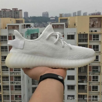 [With box]2017 BOOST Sply 350 V2 All Cream White Bred Zebra Black Red Copper Dark Green Kanye West Sneakers Running Shoes