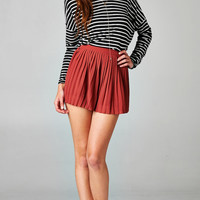 LONG SLEEVE STRIPED TOP - BLACK