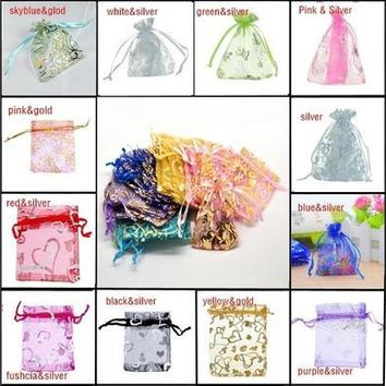 25pcs 7cmx9cm Skyblue Organza Jewelry Gift Pouch Bags Wedding X-mas Party Favor [7980702983]