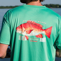 Country Club Prep: FieldTec Snapper Pocket Tee - Short Sleeve in Bimini Green by Southern Marsh