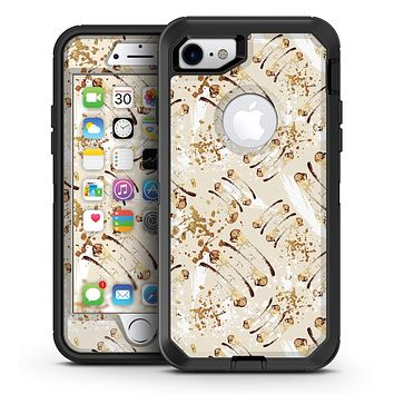 Tan Brush Strokes of Gold - iPhone 7 or 7 Plus OtterBox Defender Case Skin Decal Kit