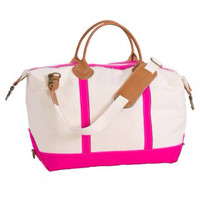 Preppy Monogrammed Weekender Bag-PINK-Due 3/1/14