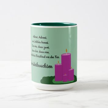Advent Advent Kaffetasse Two-Tone Coffee Mug