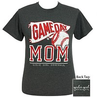 Girlie Girl Originals Preppy Baseball Game Day Mom T-Shirt