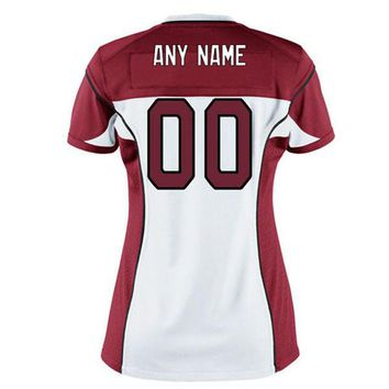 Women's Arizona Cardinals White Custom Game Cheap American football Jerseys