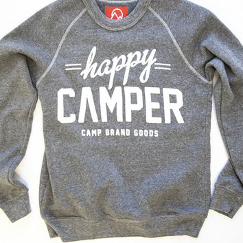 Camp Brand — WOMENS HAPPY CAMPER CREWNECK SWEATSHIRT