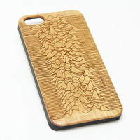 Joy Division Unknown Pleasures Wood Engraved iPhone 6s Case iPhone 6 Case iPhone 6s 6 Plus Cover Natural Wooden iPhone 5s 5 Case Samsung Galaxy S6 Edge S5 Case D116