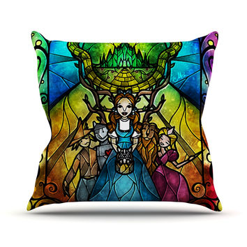 "Mandie Manzano ""Wizard of Oz"" Fantasy Throw Pillow"