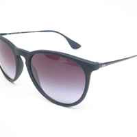 Ray-Ban RB 4171 Erika 622/8G Matte Black Rubber Sunglasses