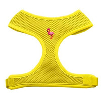 Pink Flamingo Chipper Yellow Harness Small