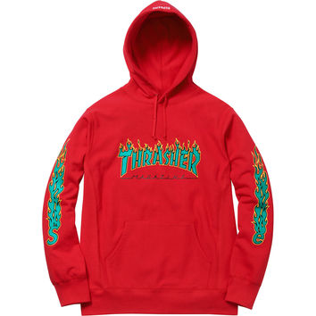 Supreme Supreme Thrasher® Hoodie Red Size from grailed.com 949c602bc5