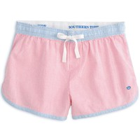 Women's Seersucker Lounge Short in Berry by Southern Tide