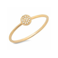 Disc Stacking Ring Yellow Gold