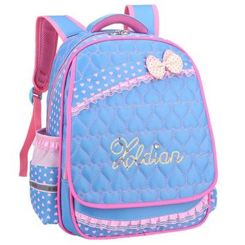 New Lovely children's backpack Super light waterproof Pupils bag High Quality Girls kids School Bag For little girl the bow bag