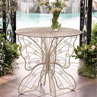 Metal Butterfly Table - Wind and Weather