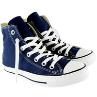 Womens Converse All Star Hi High Top Chuck Taylor Chucks Trainers - Navy - 9