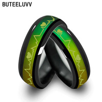 2016 black Tone Color Changing Mood love Rings Temperature Emotion Feeling wedding rings for men and women valentine's day gift