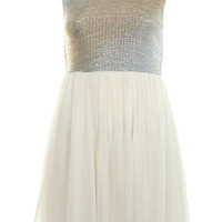 Petites Shimmer Bodice Dress - Miss Selfridge