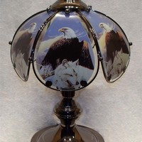 Eagle and Wolf Small Touch Lamp