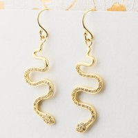 CZ Snake Earrings