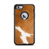 The Real Brown Cow Coat Texture Apple iPhone 6 Plus Otterbox Defender Case Skin Set