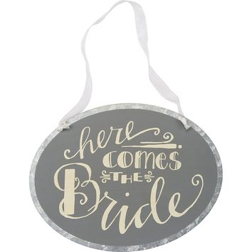 Tin Sign - Here Comes Bride