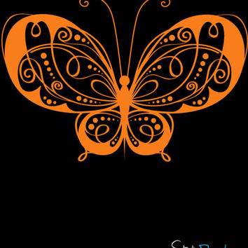 Vinyl Wall Decal Sticker Butterfly #722