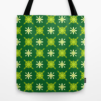 Artistic green pattern Tote Bag by cycreation