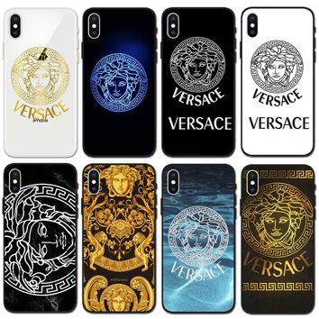 Fashion VERSACE Case For iPhone 7 7plus iphone 8 iphone X XS Max XR
