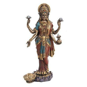 10 Inch Lakshmi Mythological Hindu Goddess Statue Figurine