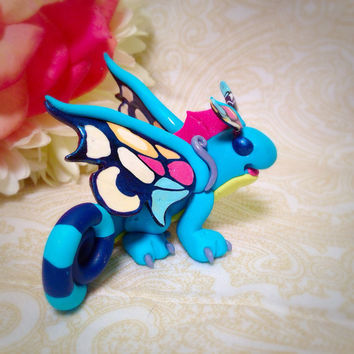 Fey Dragon Sprite Darter / Brightwing  World of Warcraft WoW heroes of the storm Figurine Fan art mini minature polymer clay
