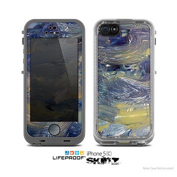 The Blue & Yellow Abstract Oil Painting Skin for the Apple iPhone 5c LifeProof Case