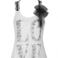 Love Ribbon Bow Tank