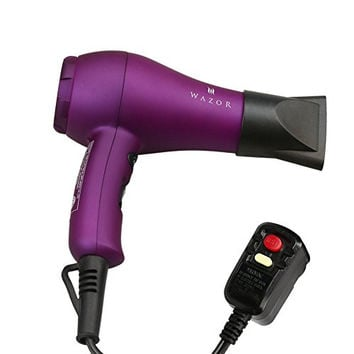 Wazor Ionic Ceramic Mini Blow Dryer with Cool Button, Purple
