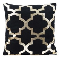 Black & Metallic Gold Quatrefoil Pillow | Shop Hobby Lobby