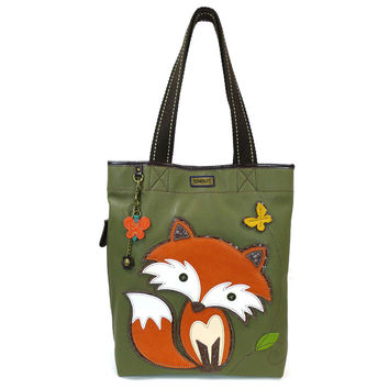 Chala Handbag Everyday Tote (Fox/ Olive Green)