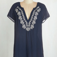Boho Long Short Sleeves Rustic Lunch Tunic by ModCloth