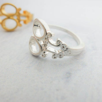 Scissors Silver Ring Unique ring Cute ring Dainty silver ring Delicate silver ring Gift mom Birthday Gift best friend Birthday Gift sister