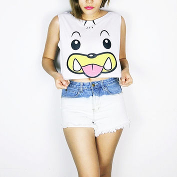 Pokemon Seel crop top tank shirt women S M L
