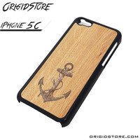 Anchor Wood Texture Case For Iphone 5C Case