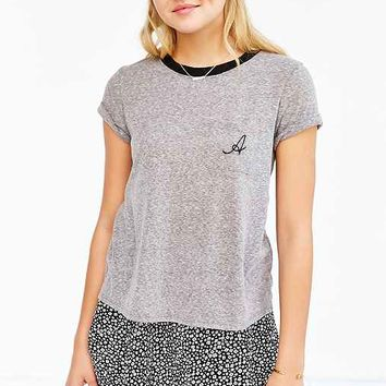 Truly Madly Deeply Initial Pocket Ringer Tee