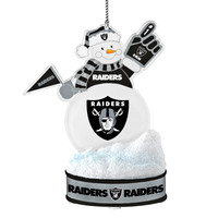 Oakland Raiders Ornament - LED Snowman